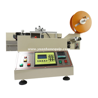 High Speed Clothing Label Cutting Machine with Cold & Hot Knives