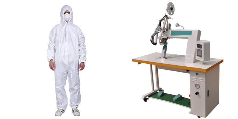 protective clothing sawing machine
