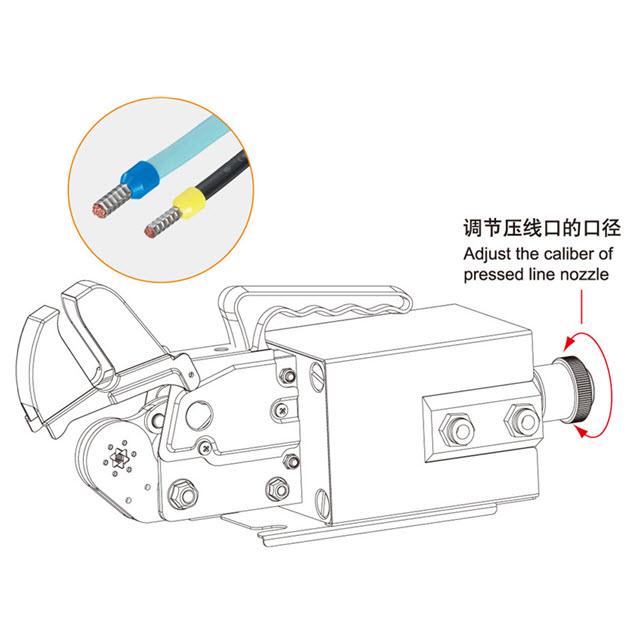 pneumatic tubular terminal crimping machine am6-6