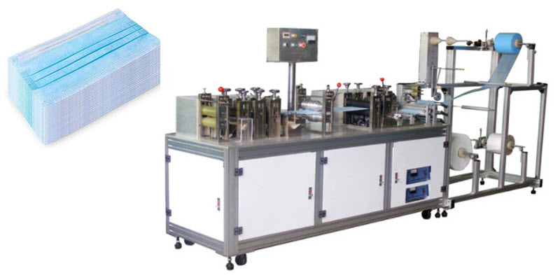 Semi-automatic Flat Disposable Mask Making Machine