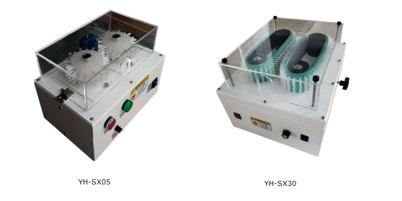 wire shielding brush-out machine
