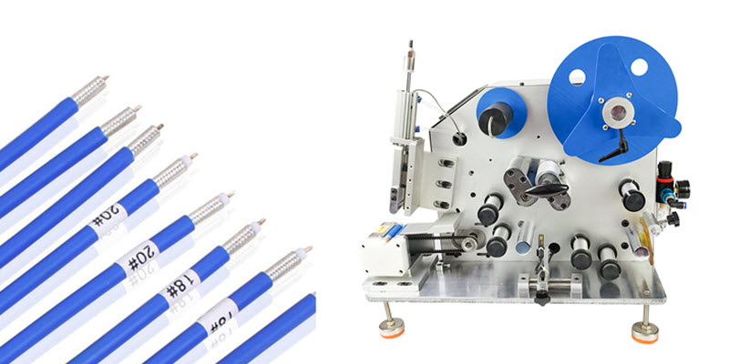 Automatic Label Wrap-around Machine for Wire and Cable