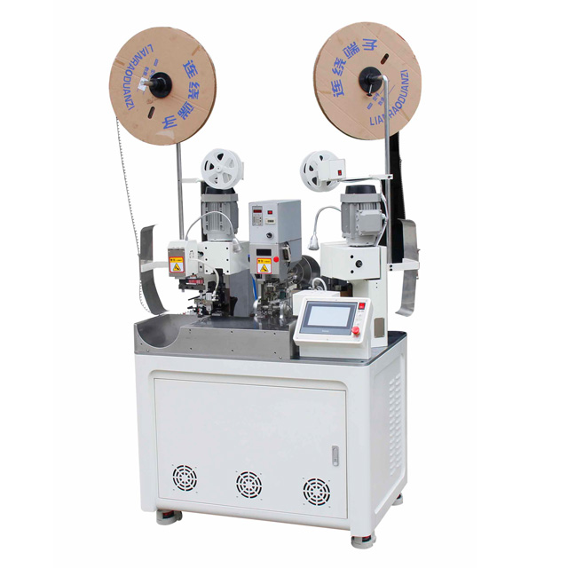 Wire Cutting Stripping Single End Seals Loading and Two Ends Crimping Machine