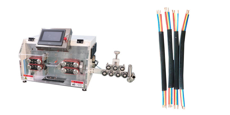 Multi-core Flat Cable Cutting Stripping Machine