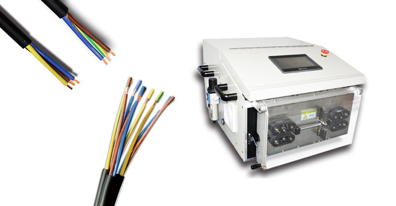 Cable Outer Jacker and Inner Core Wires Stripping Machine